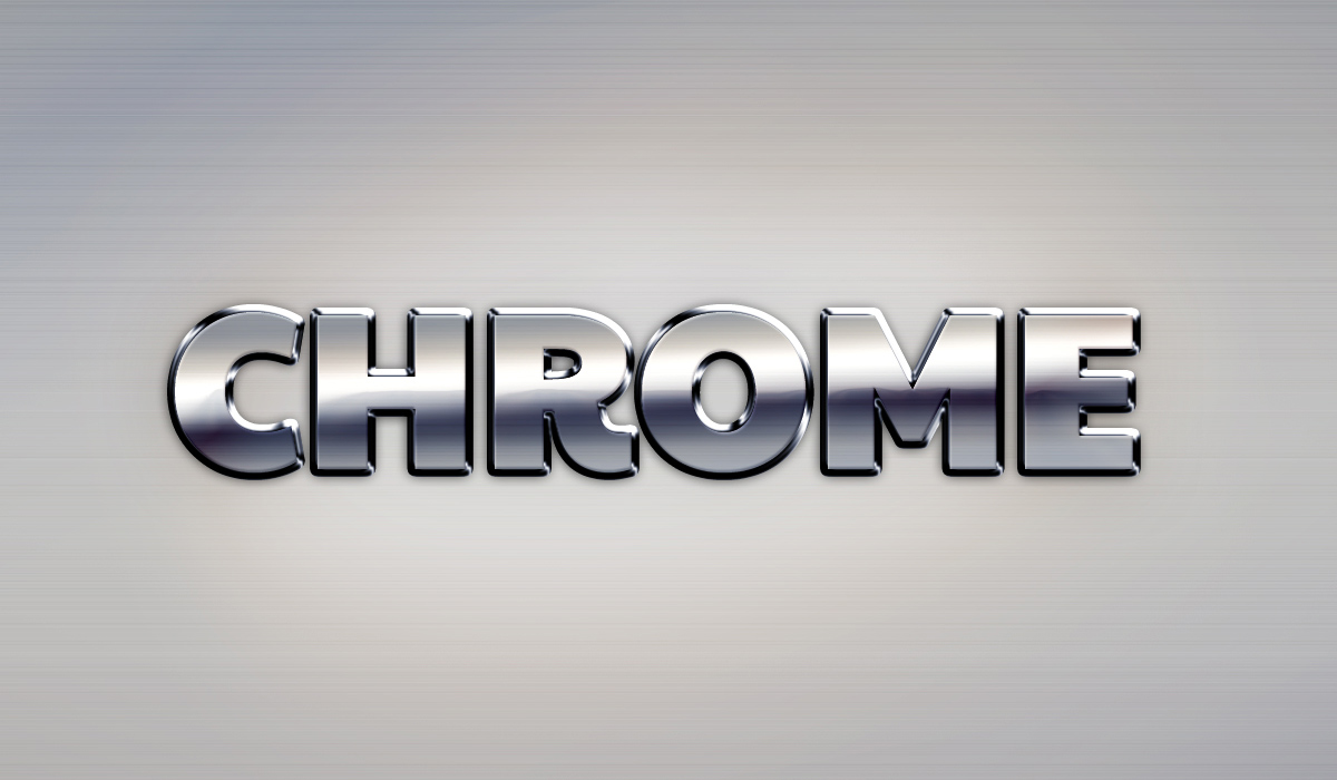 12 Chrome Logo Effect Photoshop Images