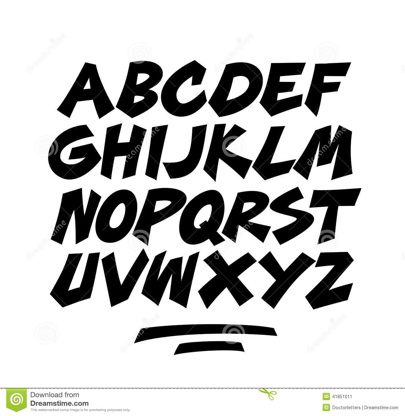 Comic Cartoon Font Alphabet Doodle Vector