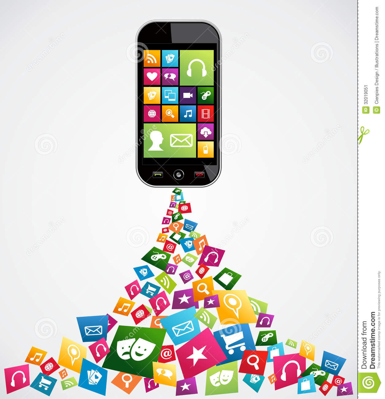 Computer Mobile App Icons