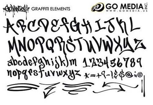 Cool Font Graffiti Alphabet Letters