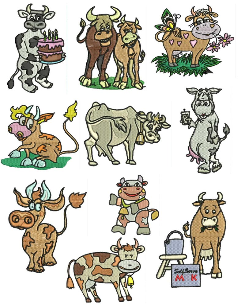 Cow Machine Embroidery Designs