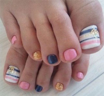 14 Different Toe Nail Designs Images