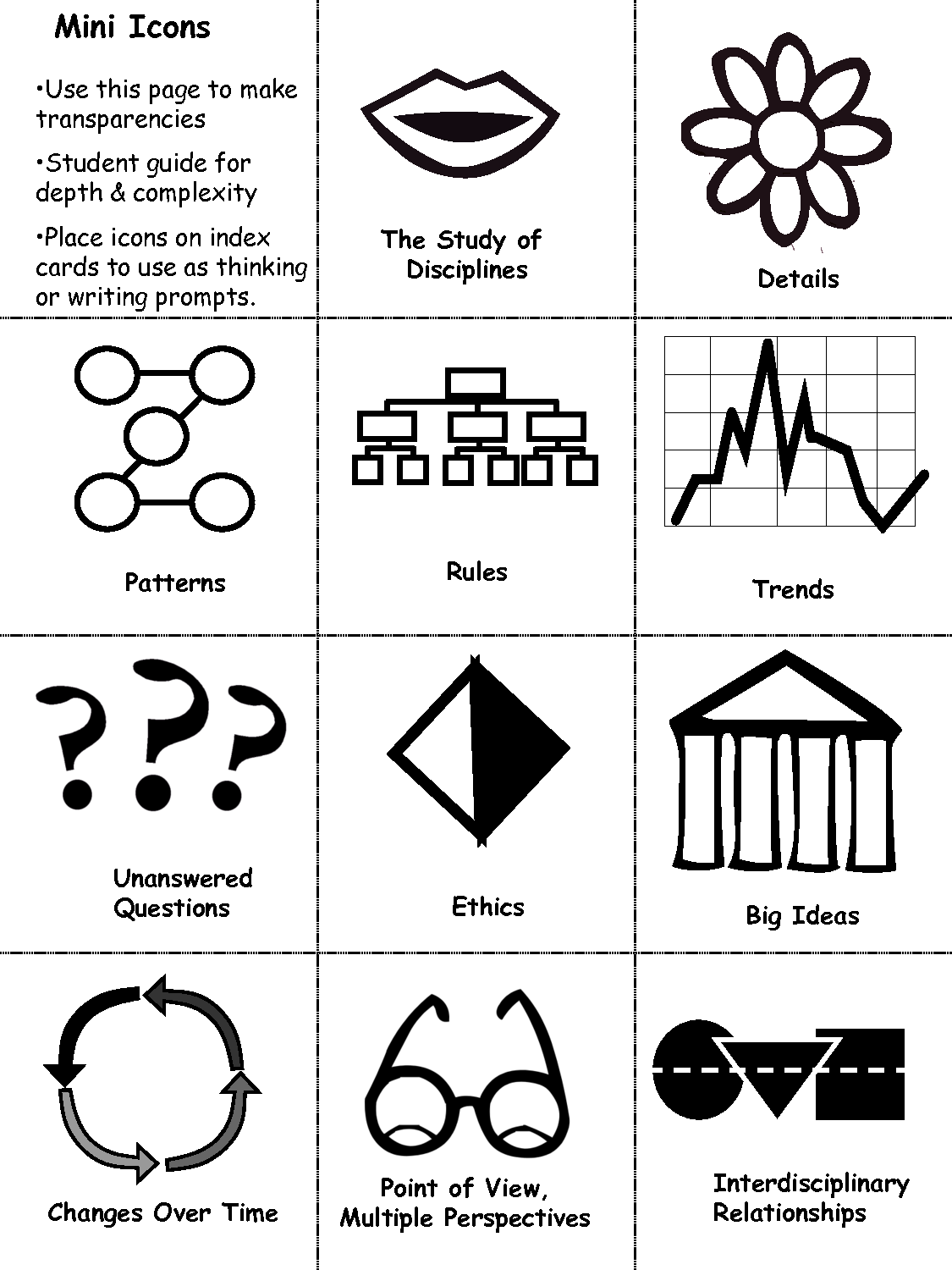image about Depth and Complexity Icons Printable identify 14 Element And Complexity Icons Views Pictures - A number of