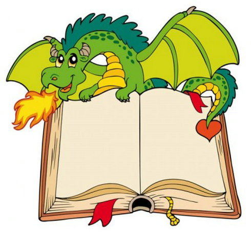 Dragon Holding Book