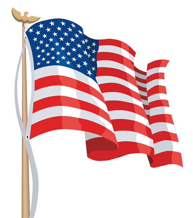 Drawing American Flag Clip Art