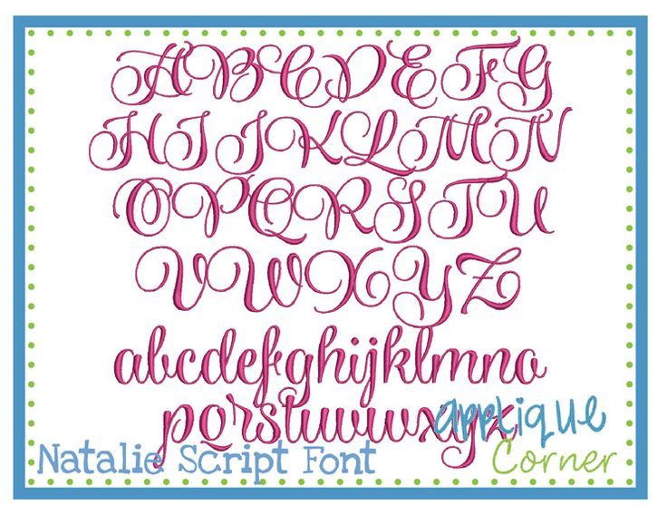 Embroidery Font Natalie