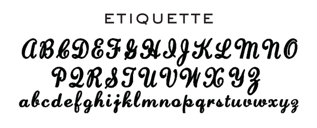 Embroidery Fonts Monogram Etiquette