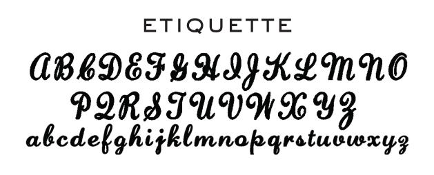 Embroidery Fonts Monogram Etiquette