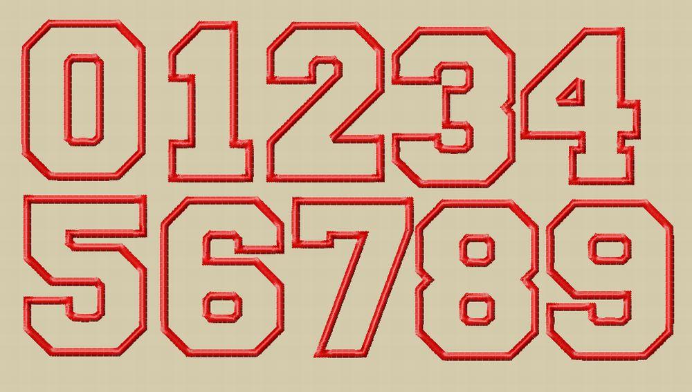 16 Number Applique Font Images