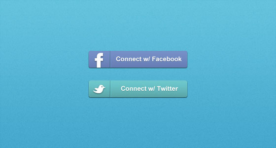 11 Login With Facebook Button PSD Images