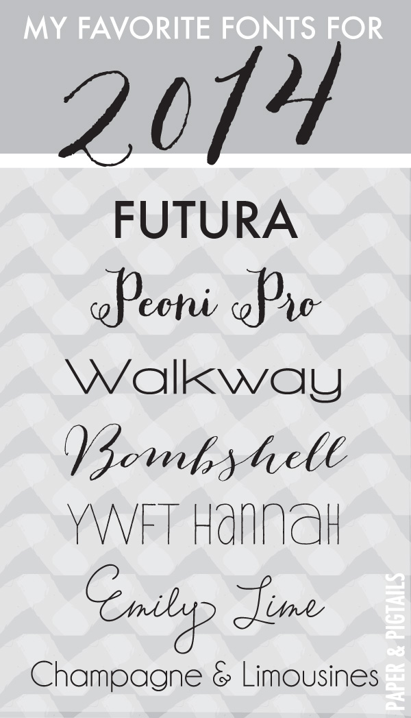 14 Popular Fonts 2014 Images