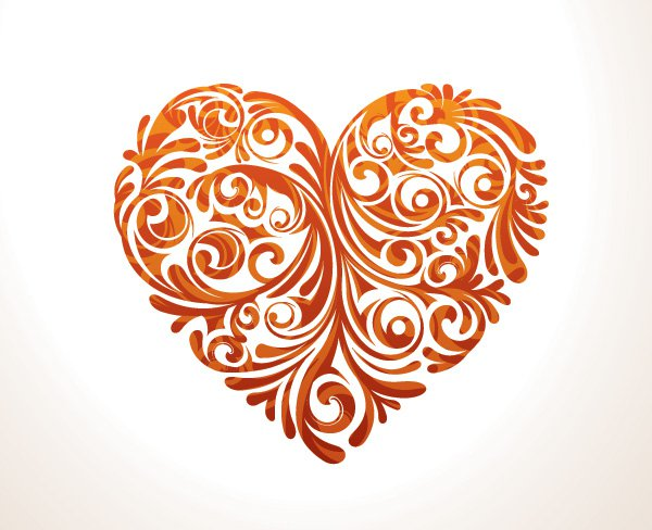 7 Heart Vector Graphics Images