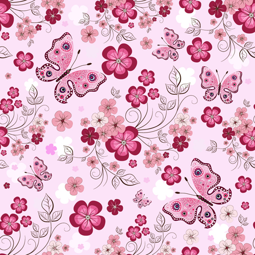 19 Flower Pattern Design Vector Images