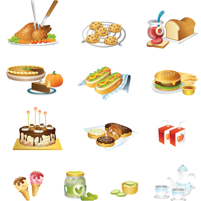 Food Vector Illustrations