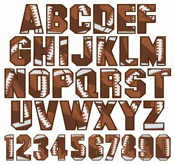 14 Football Alphabet Font Images