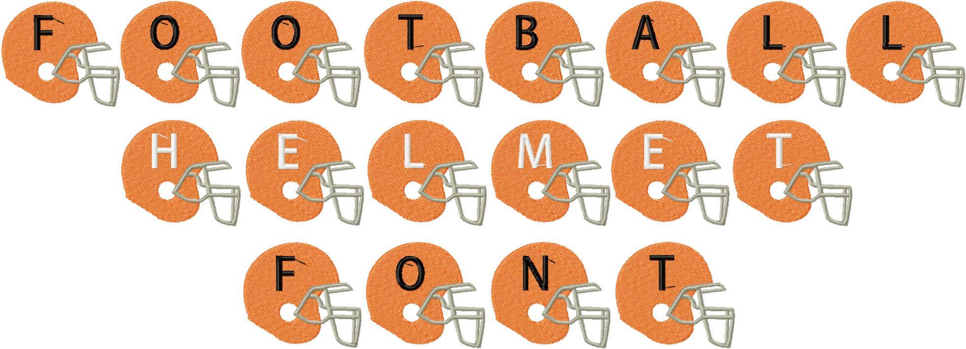 14 Football Alphabet Font Images - Football Letters Font ...
