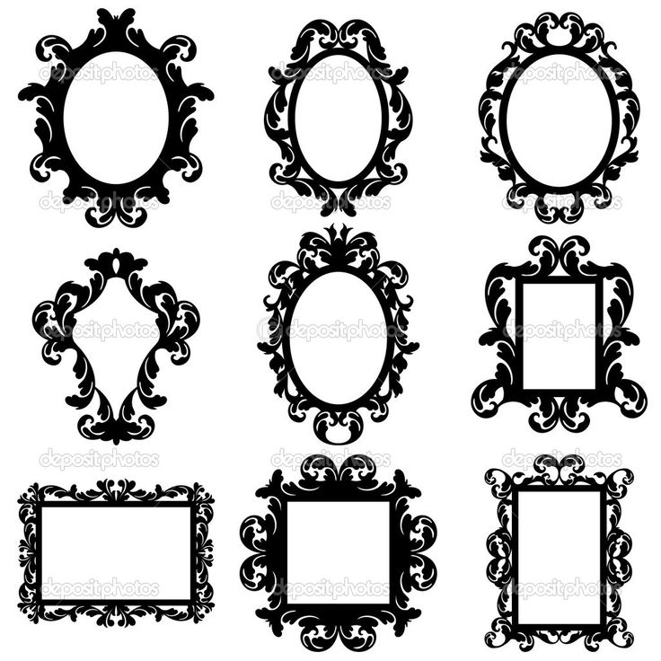 15 Silhouette Frame Vector Images