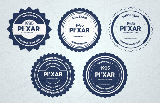 12 Web Design PSD Badge Images
