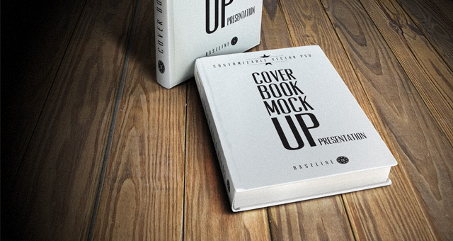 13 Free Book Cover Mockup PSD Images
