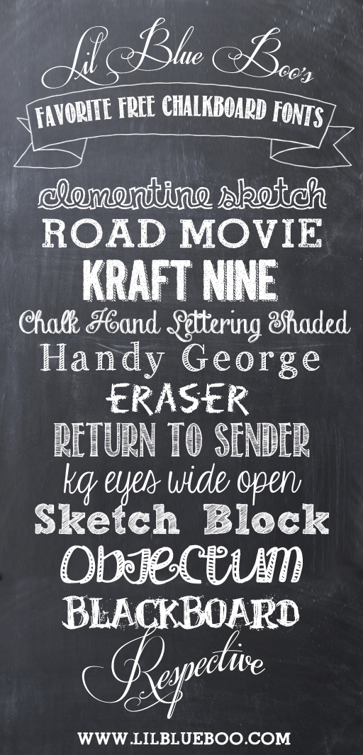 15 Cute Chalkboard Lettering Font Images
