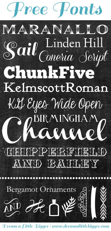 12 Free Chalk Art Font Images