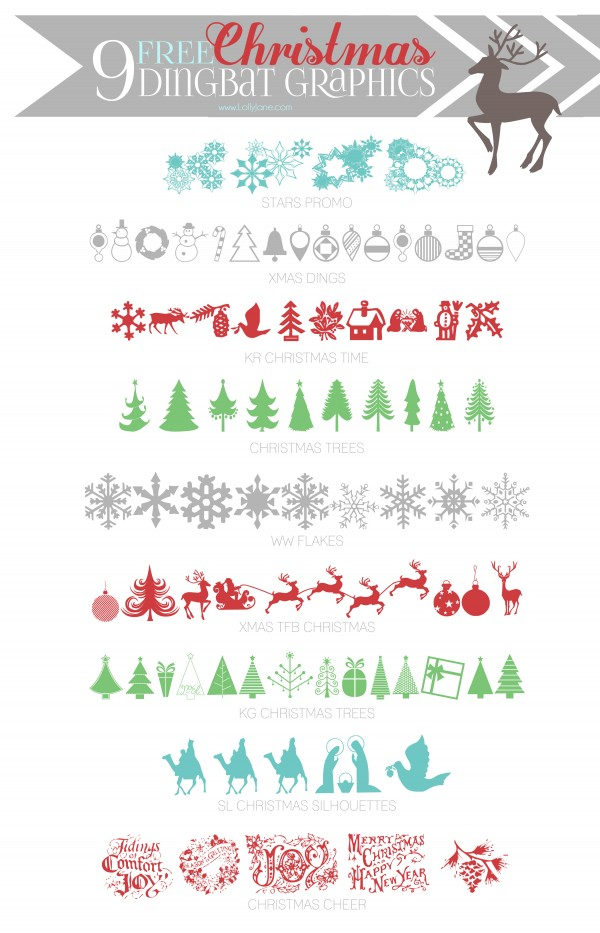 9 Christmas Dingbat Fonts Images