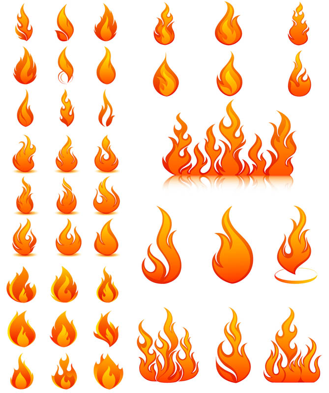 18 Fire Vector Graphic Images