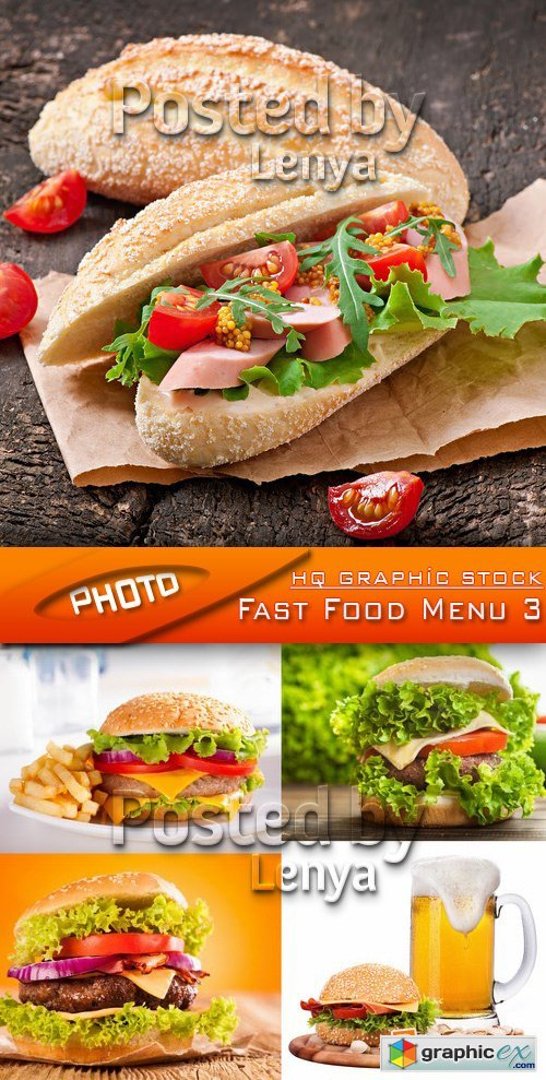 Free Menu Fast Food Stock Photos