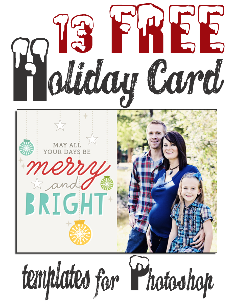 9 Free Christmas Card PSD Template Images