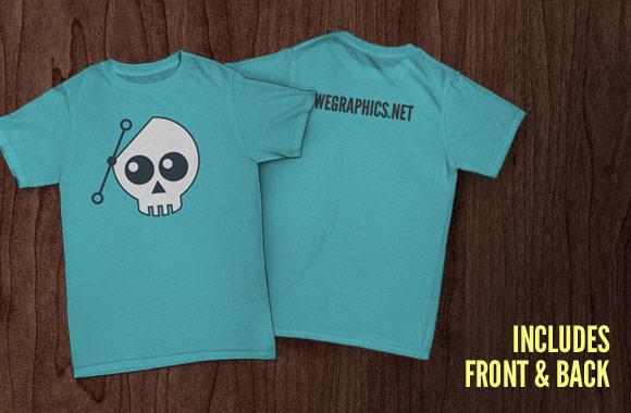 Free T-Shirt Mockup Front and Back