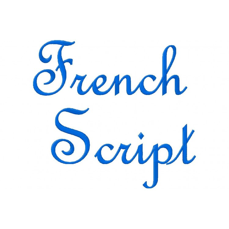 French Script Embroidery Font