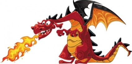 14 Dragon Cartoon Birthday Vector Images
