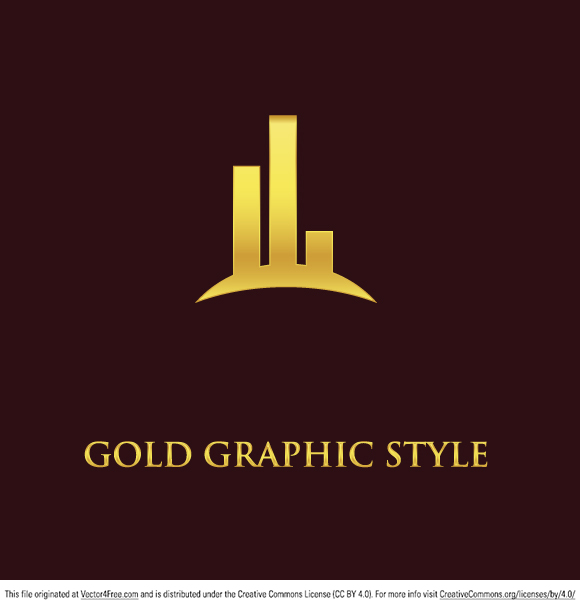 Gold Graphic Design Logo