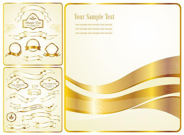 Gold Ribbon Banner Vector