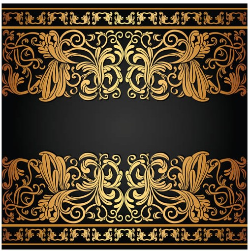 Graphic Design Borders Gold