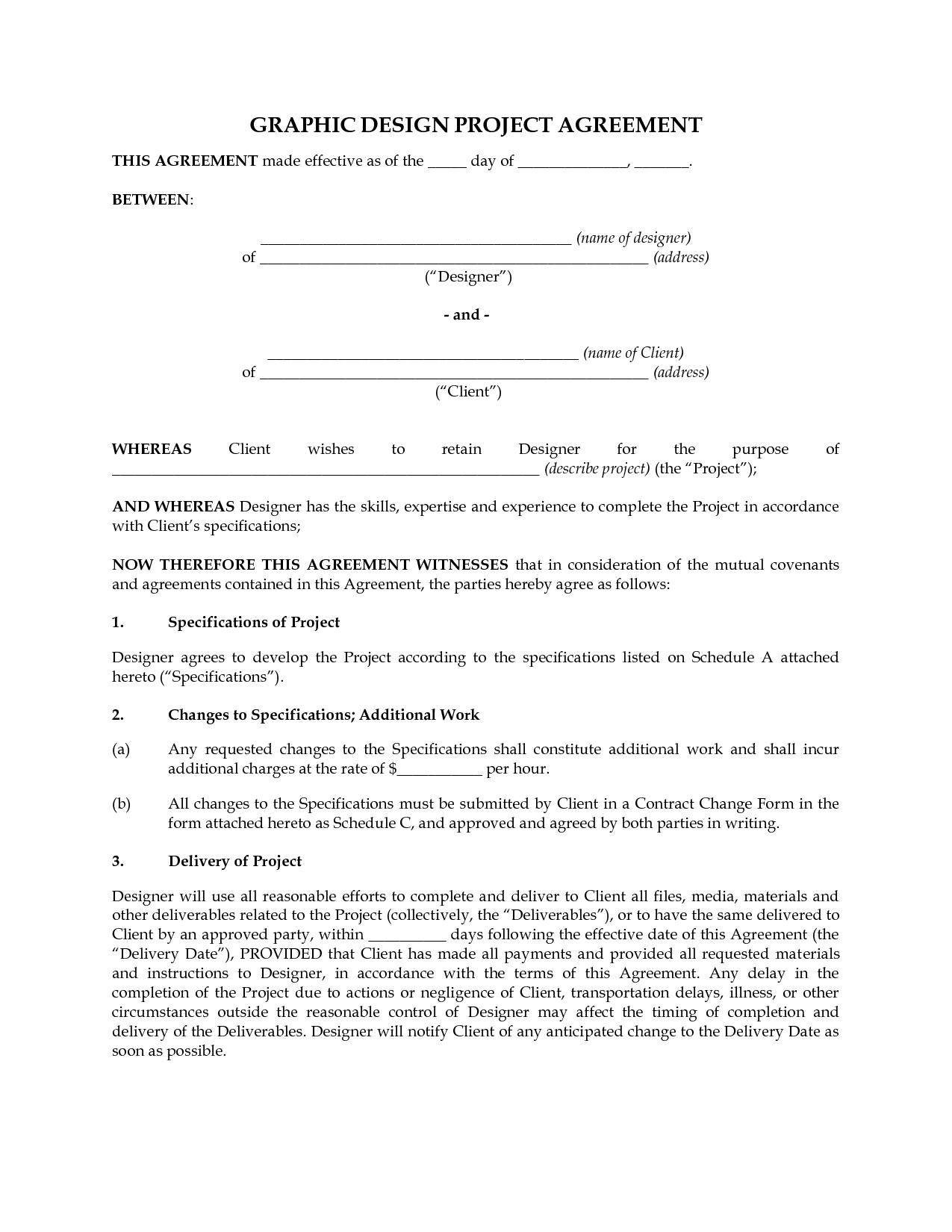 Graphics Design Contract Template
