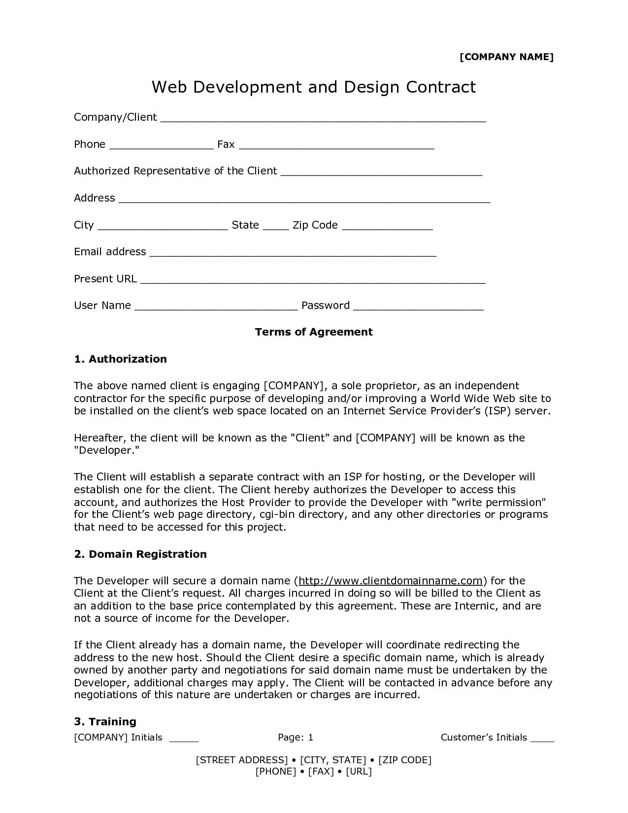 graphic design contract template via