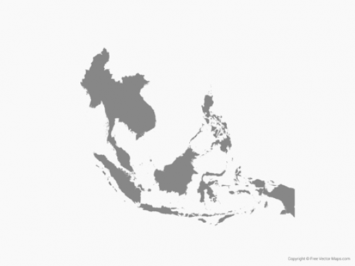 Graphics South East Asia Map