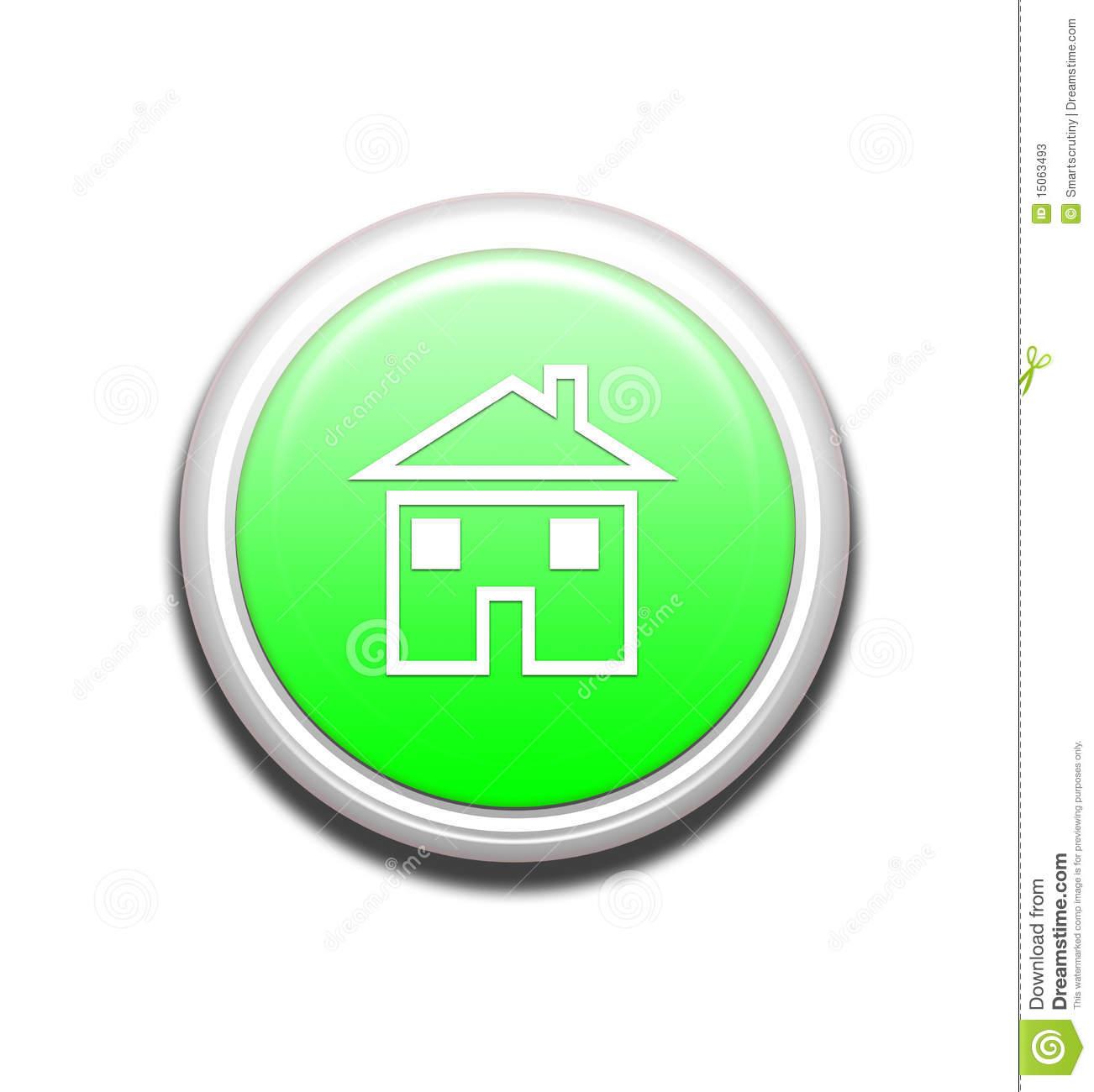 Green Home Button Icon
