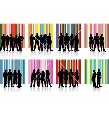 Group of People Vector Art