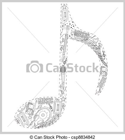 Hand Drawn Music Notes