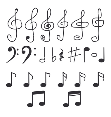 14 Music Note Vector Hand Images Hand Drawn Music Notes Music