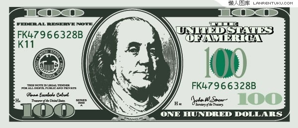 12 100 Dollar Bill Template Vector Images