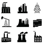 Industrial Manufacturing Plant Icon