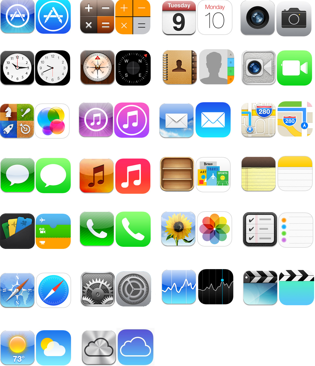 15 IOS 7 App Icons Images
