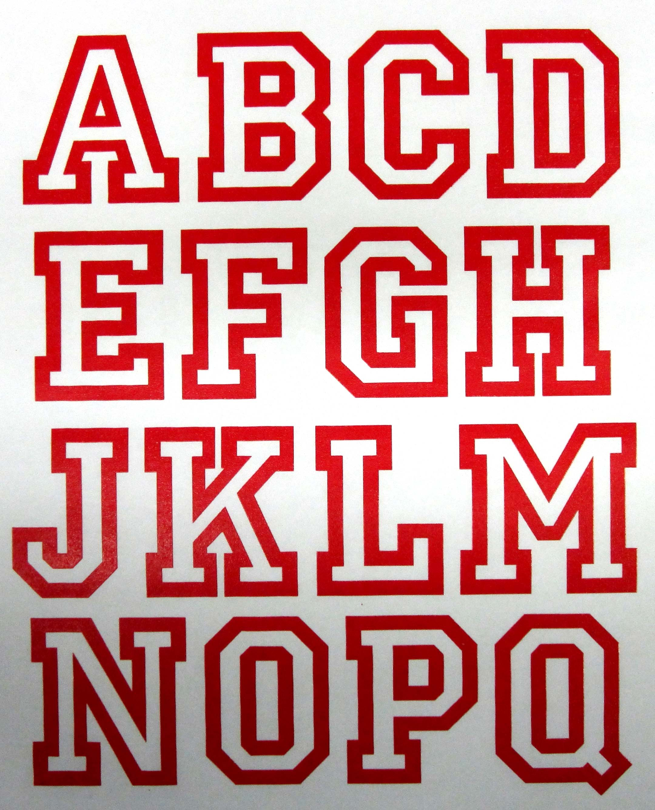 14 Football Alphabet Font Images - Football Letters Font