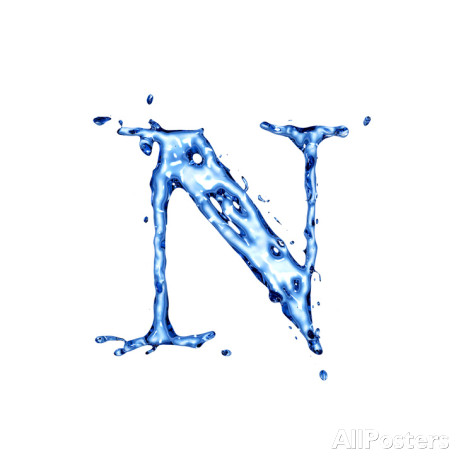 Liquid Water Letters Alphabet