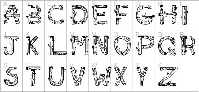11 Log Letters Font Images