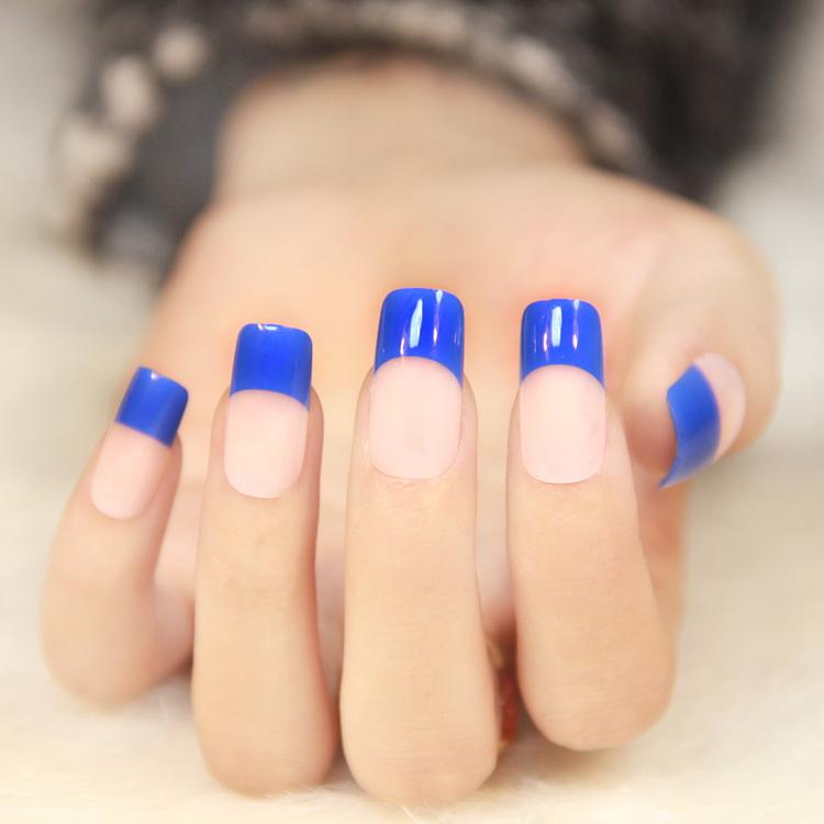 Long Square Color Nails