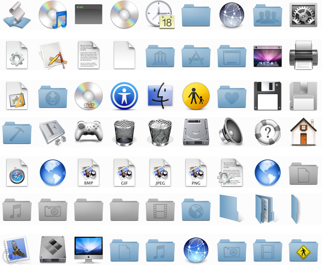 Mac OS X Icons Download